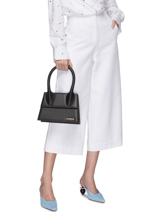 Figure View - Click To Enlarge - JACQUEMUS - 'Le grand Chiquito' leather top handle bag