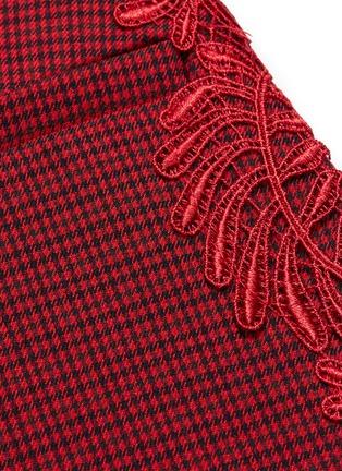 - SELF-PORTRAIT - Lace trim houndstooth blazer