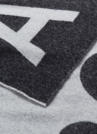 Detail View - Click To Enlarge - Acne Studios - Logo jacquard wool blend scarf