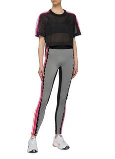 NO KA'OI 'Loli Kaomi' scalloped colourblock stripe outseam leggings
