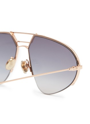 Detail View - Click To Enlarge - DIOR - 'Dior Stellaire 5' mirror metal narrow aviator sunglasses