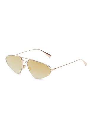 Main View - Click To Enlarge - DIOR - 'Dior Stellaire 5' mirror metal narrow aviator sunglasses