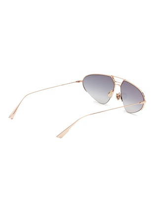 Figure View - Click To Enlarge - DIOR - 'Dior Stellaire 5' mirror metal narrow aviator sunglasses