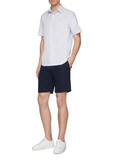 Incotex Chinolino® linen-cotton twill shorts