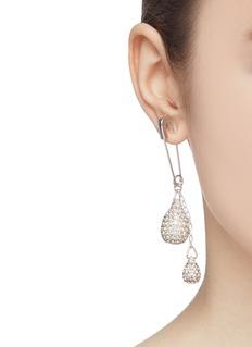 AMBUSH Swarovski crystal drop safety pin single earring