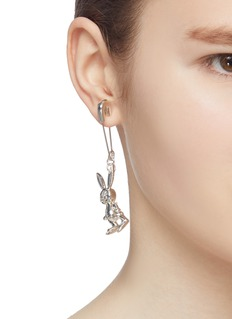 AMBUSH 'Inflated Bunny' drop safety pin single earring