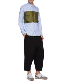COMME des GARÇONS Homme Contrast chest pocket panel stripe shirt
