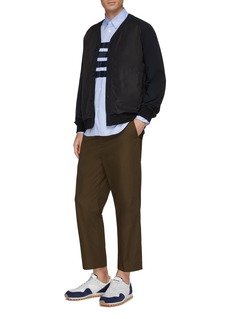 COMME des GARÇONS Homme Chest pocket grosgrain stripe Oxford shirt