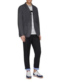 COMME des GARÇONS Homme Contrast chest pocket grosgrain trim stripe T-shirt