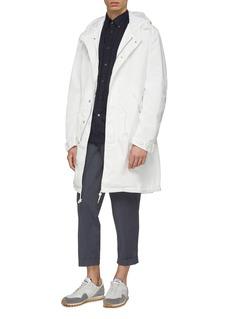 COMME des GARÇONS Homme Garment dyed oversized hooded twill parka