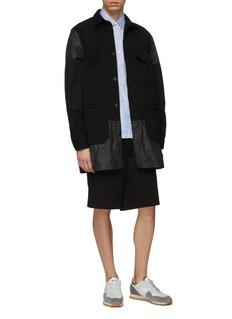 COMME des GARÇONS Homme Denim panel patchwork coat