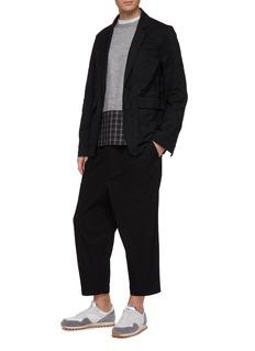 COMME des GARÇONS Homme Pleated drop crotch gabardine pants