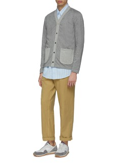 COMME des GARÇONS Homme Patch pocket pinstripe cotton jersey cardigan