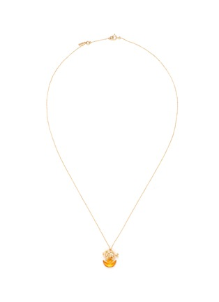 Main View - Click To Enlarge - BAO BAO WAN - 'And the little ones' diamond citrine pig on coin pendant necklace