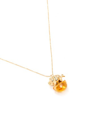 Figure View - Click To Enlarge - BAO BAO WAN - 'And the little ones' diamond citrine pig on coin pendant necklace