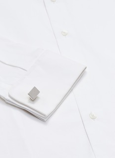 Babette Wasserman Clover tile cufflinks