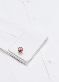Babette Wasserman Carbon button cufflinks