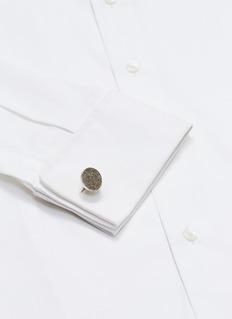 Babette Wasserman Moondust round cufflinks