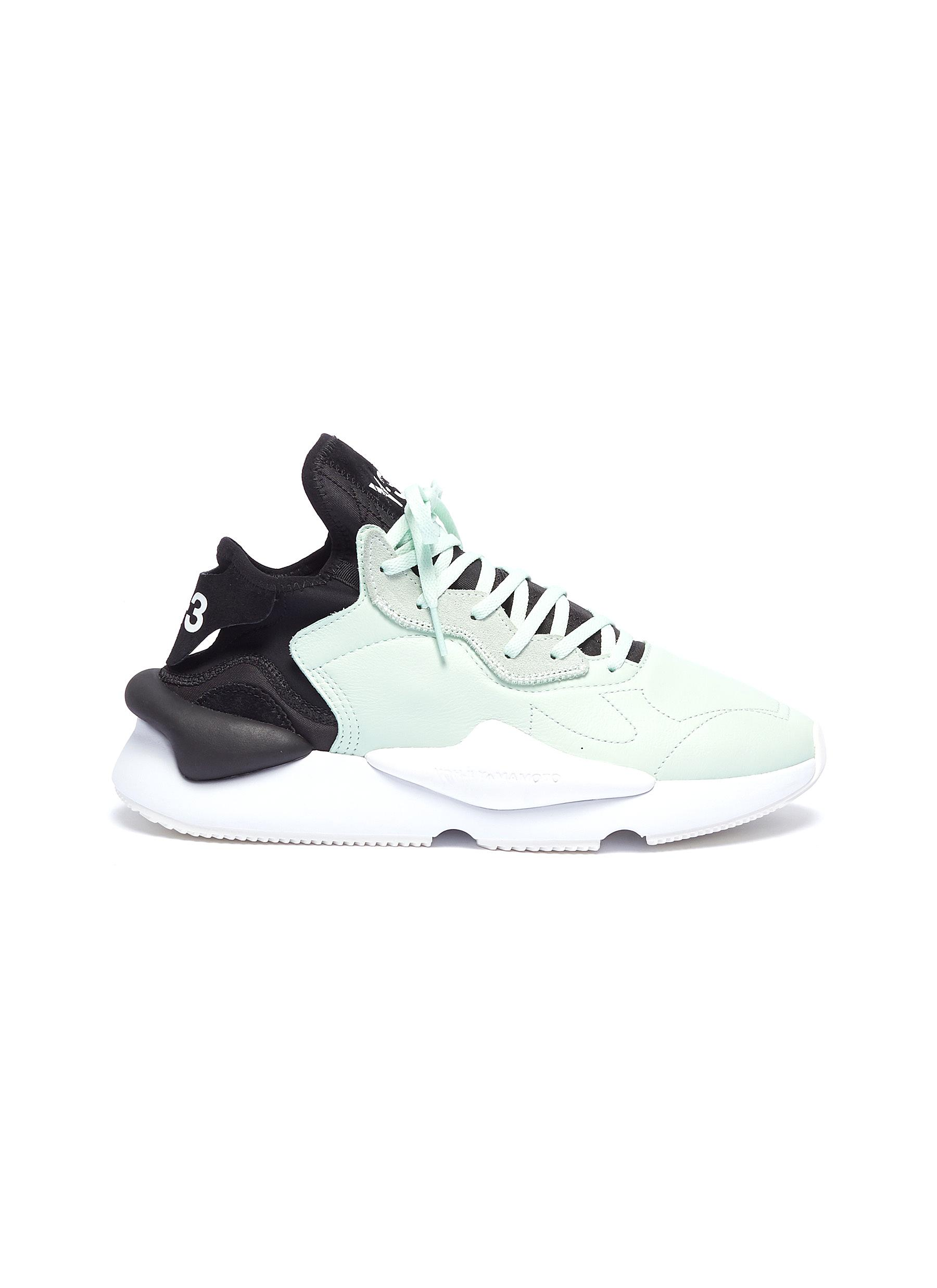 748961ade Y-3.  Kaiwa  neoprene counter leather sneakers