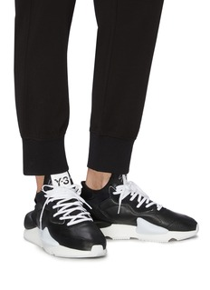 Y-3 'Kaiwa' neoprene counter leather sneakers