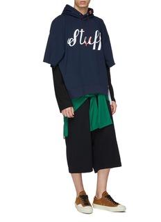 MIHARAYASUHIRO T-shirt back panel sweat shorts