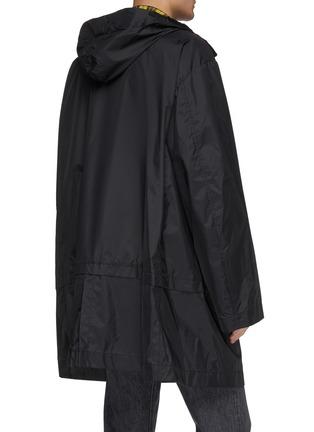 Back View - Click To Enlarge - MIHARAYASUHIRO - Scarf panel hooded coat