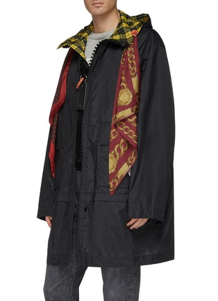 Front View - Click To Enlarge - MIHARAYASUHIRO - Scarf panel hooded coat