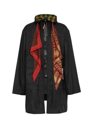 Main View - Click To Enlarge - MIHARAYASUHIRO - Scarf panel hooded coat