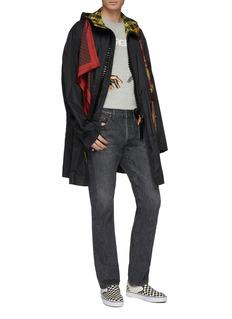 MIHARAYASUHIRO Scarf panel hooded coat