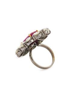 Aishwarya Diamond sapphire gold alloy ring