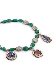 Aishwarya Diamond gemstone charm necklace