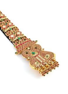 Aishwarya Diamond ruby emerald pearl tassel hair ornament