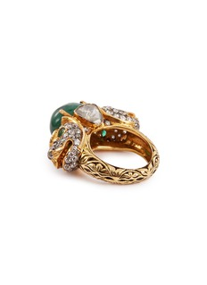 Aishwarya Diamond emerald gold alloy ring