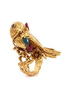 Aishwarya Glass gold alloy bird ring