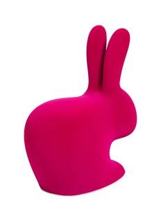Qeeboo Rabbit baby velvet chair –Fuxia