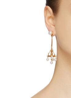 Oscar de la Renta Faux pearl chandelier earrings