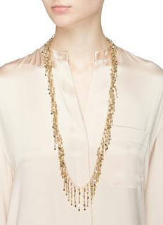 Rosantica 'Fred' long bead fringe necklace