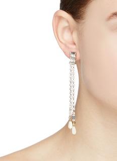 Rosantica 'Luci' glass crystal fringe drop earrings
