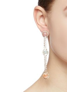 Rosantica 'Incantesimo' stone sphere glass crystal drop earrings