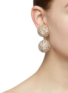 Rosantica 'Strobo' glass crystal sphere drop clip earrings