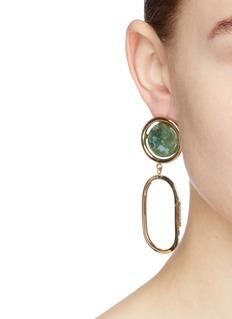 Rosantica 'Scoperta' stone stud geometric drop earrings