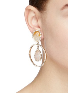 Rosantica 'Incantesimo' stone stud glass crystal hoop clip earrings