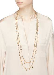 Rosantica 'Indios' stone bead fringe tiered long necklace