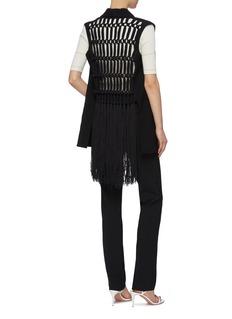 Sonia Rykiel Macramé fringe back virgin wool vest