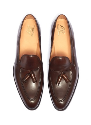 Detail View - Click To Enlarge - GEORGE CLEVERLEY - 'Adrian' tassel leather loafers
