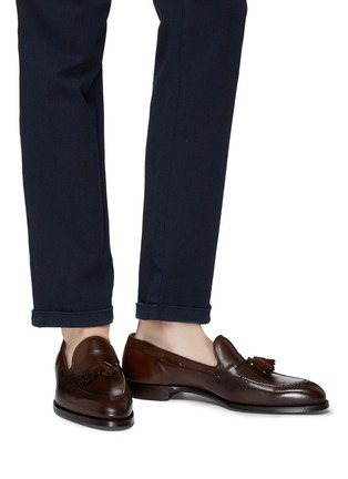 Figure View - Click To Enlarge - GEORGE CLEVERLEY - 'Adrian' tassel leather loafers