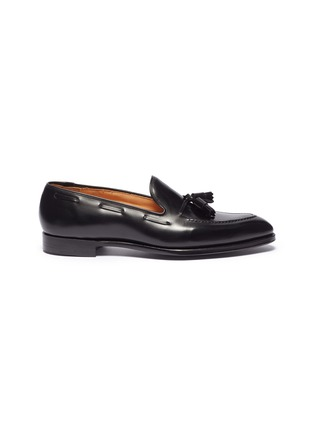 Main View - Click To Enlarge - GEORGE CLEVERLEY - 'Adrian' tassel leather loafers