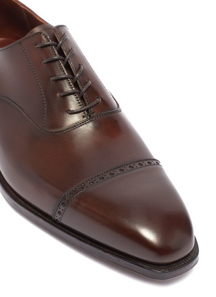 Detail View - Click To Enlarge - GEORGE CLEVERLEY - 'Charles' leather Oxfords