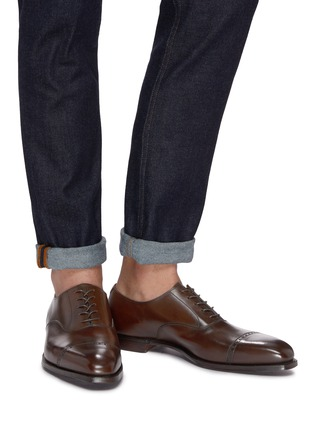 Figure View - Click To Enlarge - GEORGE CLEVERLEY - 'Charles' leather Oxfords