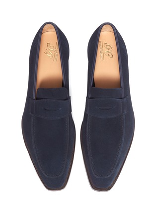 Detail View - Click To Enlarge - GEORGE CLEVERLEY - 'George' suede penny loafers